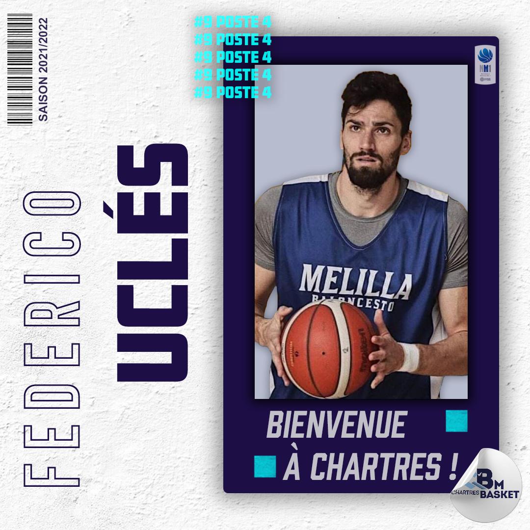 Saison 2021- 2022 : Federico Uclès complète l'effectif