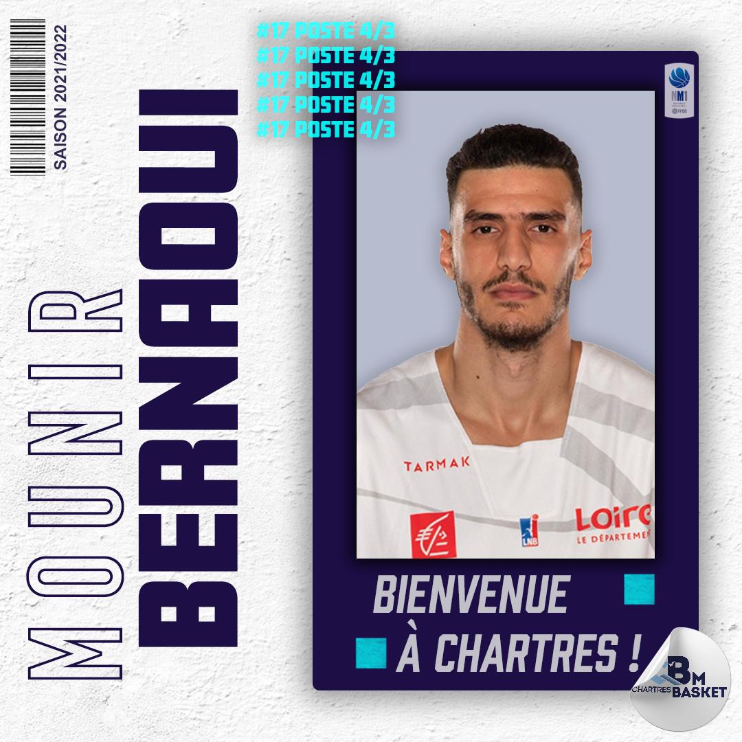 Saison 2021-2022 : Bernoui s'engage avec Chartres