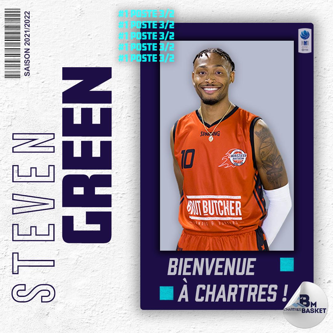 Saison 2021-2022 : Green arrive à Chartres