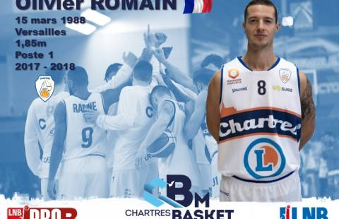 Olivier Romain à la mène du C'Chartres Basket Masculin