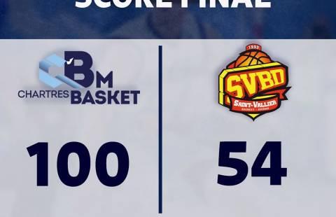Superbe Victoire contre St Vallier 100-54