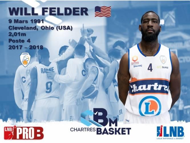 Will Felder sera de nouveau  Chartrain en 2018-2019