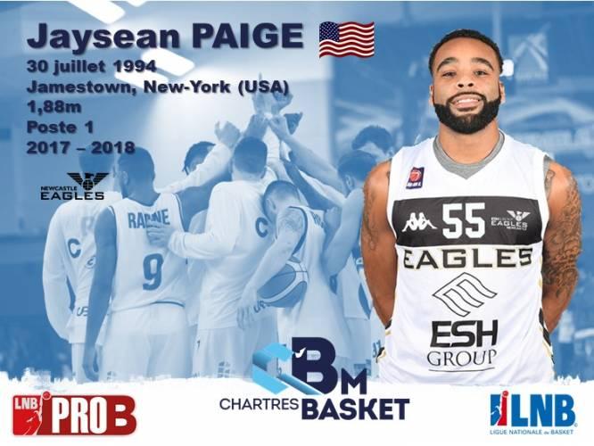 Jaysean Paige (Américain) signe au C'CBM pour la saison 2018-2019