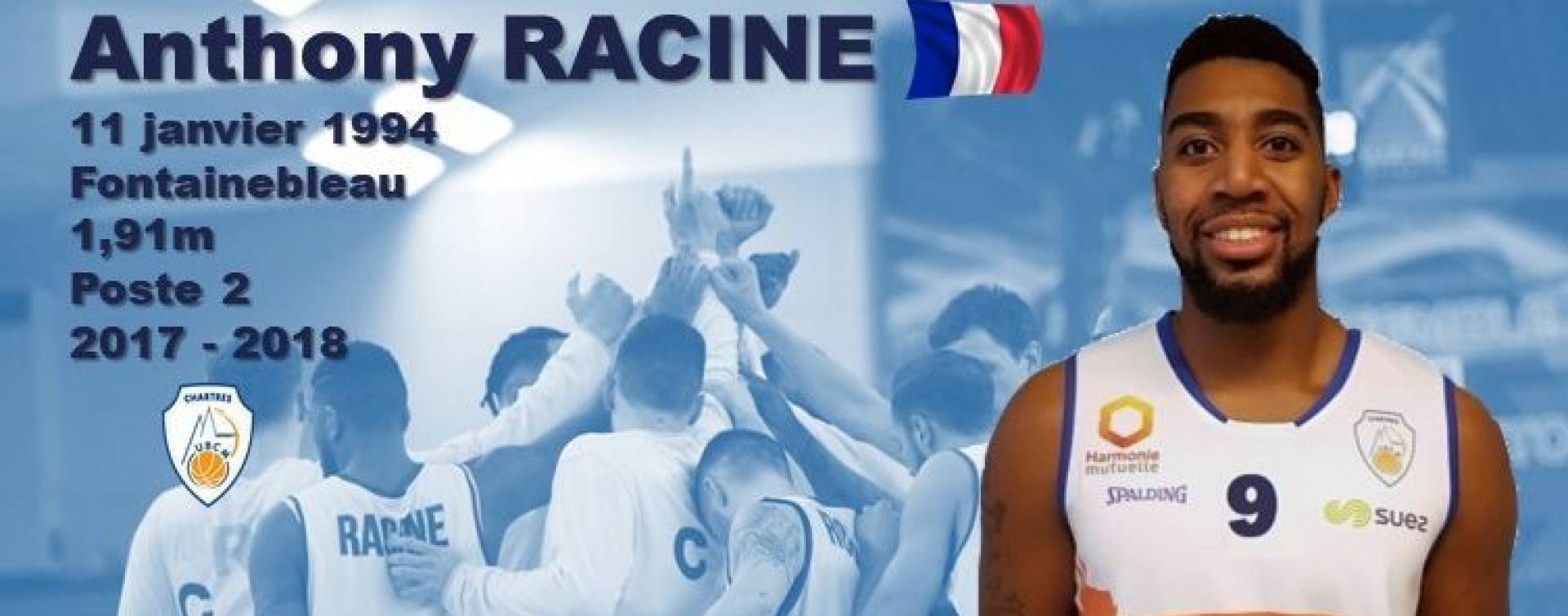 Anthony Racine prolonge au C'Chartres Basket Masculin