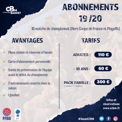 Abonnements 2019-2020