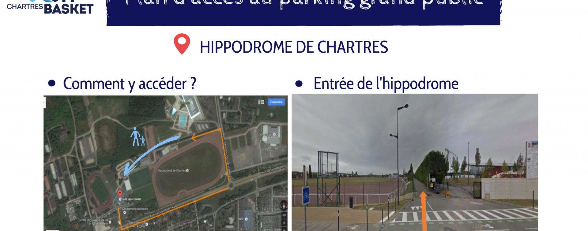 Parking spectateurs gratuit et surveillé à l'hippodrome de Chartres
