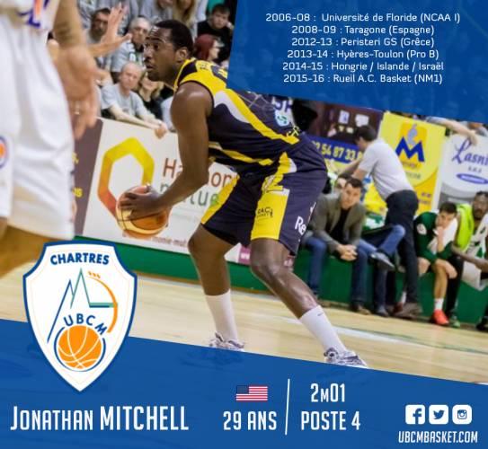 Jonathan MITCHELL, premier américain de l'effectif 2016-17 !
