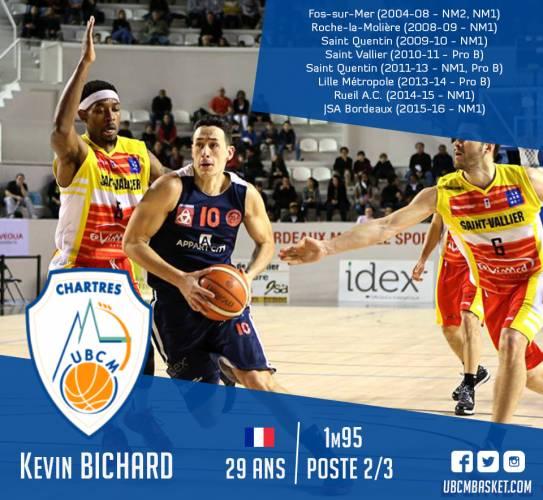 Kévin BICHARD, nouvel ailier de l'UB Chartres Métropole !